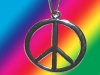 A64 - 60er 70er Jahre Kult Hippie Kette Peace Flower-Power Love